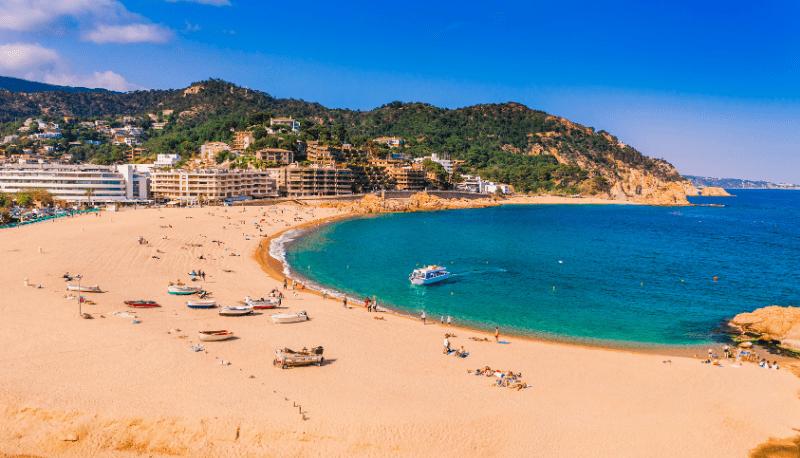Famous coast in Spain